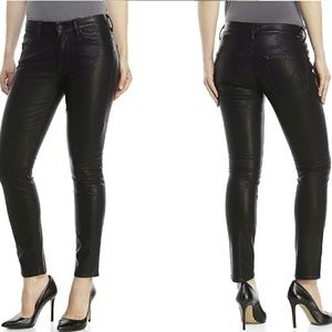 MOTHER The Muse Ankle Faux Leather Jean Size 28